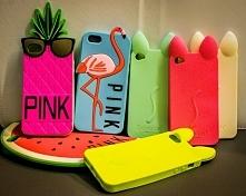 Kolorowe i dziewczęce - oto etui z kocimi uszkami, oraz flamingi, ananasy i arbuzy od Victoria's Secret