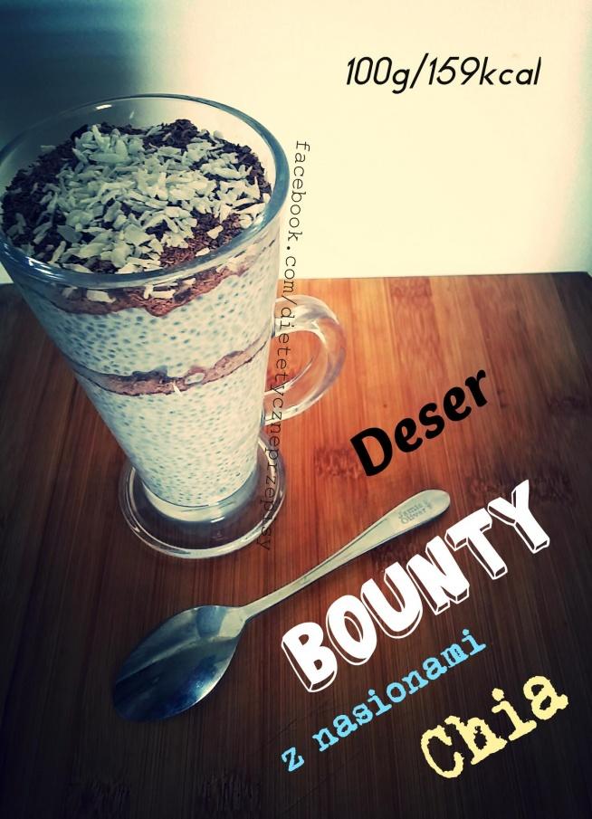 Deser Bounty z nasionami Chia. Cały przepis na naszej stronie facebook. Adres znajdziesz na zdjęciu