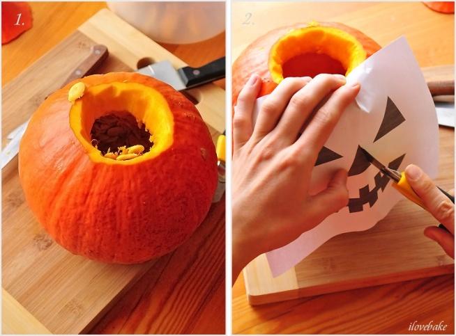 Jak zrobić lampion z dyni na Halloween + szablon do wydruku