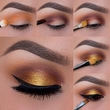 piękny jesienny makijaż w k...