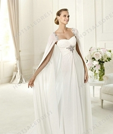 Bridal Gown - Style Pronovias Union Lace And Chiffon A-Lin