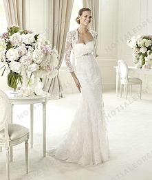 Bridal Gown - Style Pronovias Urdaniz Lace Embroidery