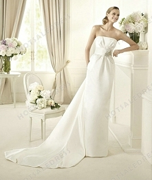 Wedding Dress - Style Pronovias Dakar Satin Embroidery Strapless