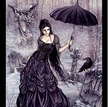 Gotyckie puzzle kobieta anioł