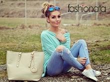 Miętowa, asymetryczna bluzka, model MA153 --> fashionata.pl Foto: nasza kochana styleev.blogspot.pl