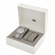 zegarek damski Fossil, w komplecie bransoletki z motywem serduszka