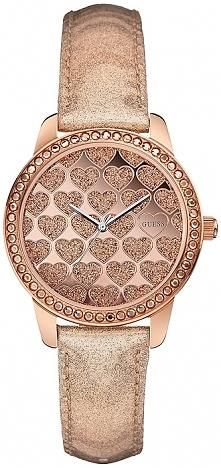 śliczny zegarek w kolorze złota, urocze serduszka, cyrkonie