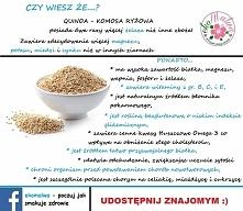 Komosa ryżowa jest doskonała dla wegetarian i osób nie tolerujących glutenu. ...