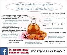 Olej ze słodkich migdałów korzystnie wpływa na wygląd skóry, wyraźnie ją odmł...