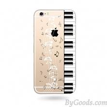 Transparent Music Piano Sweet Cute Cat Soft Silicone IPhone 6/6s/6plus Case