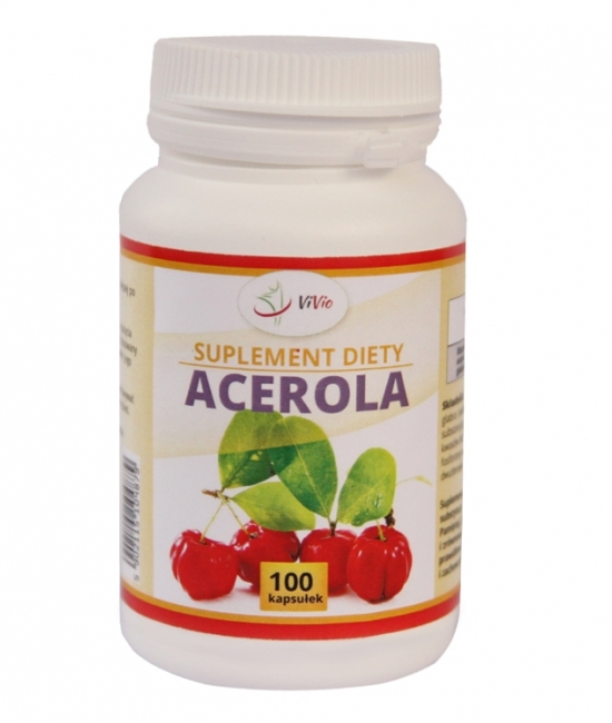 Acerola - to źródło potężnej ilości witaminy C. Mało kto wie, że acerola posiada aż 80 krotnie większe stężenie witaminy C od pomarańczy czy też cytryny.