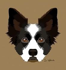 """Pies 1 Znajdziecie mnie na facebooku pod """"Wilczycas Art"""""""