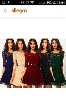 Śliczne koronkowe sukienki. Mnie się podoba granatowa i bordowa, a Wy jaką wolicie?:)