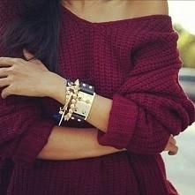 bordowy sweterek :)