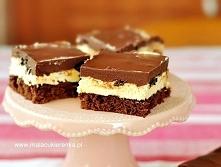Ciasto z kremem i polewą cz...