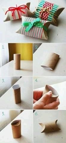 opakowanie na prezent z rolki popapierze toaletowym
