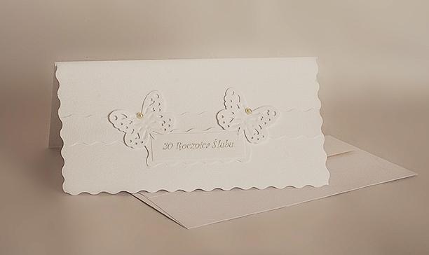 Rocznica ślubu - kartka handmade.