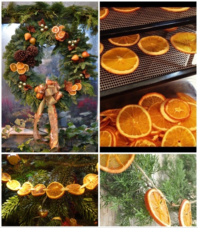 ozdoby ze suszonych pomarańczy