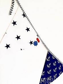 Jak wykorzystać guziki? Marynarska girlanda z marynarskim guzikiem. DIY