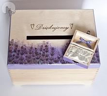 Zestaw ślubny - pudełko na obrączki i koperty