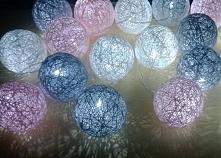 Nocna girlanda świetlna: szary,biały, róż Zapraszam na Facebooka: Modoo-Mall
