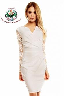 sukienka z koronkowymi ręka...
