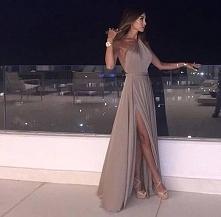 Piękna suknia wieczorowa..