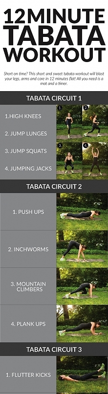 Zestaw ćwiczeń Tabata :)  Trenujesz w jakimś klubie fitness? Wyszukaj go na F...