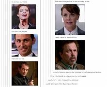 Metatron jako Umbridge i Lucyfer jako Loki fandomu Supernatural :) Idealne po...