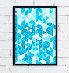 Grafika ścienna - trójkąty
