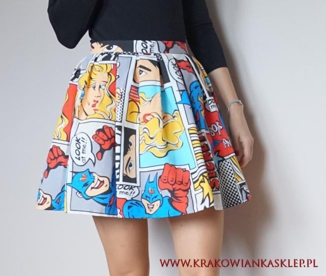 spódnica w komiks