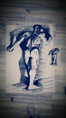 szkic wzorowany na pracy ucznia szkoły leningradzkiej