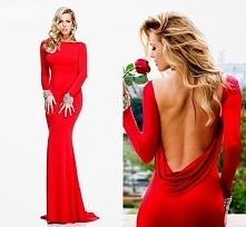 Czerwona sukienka.
