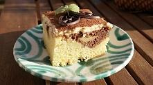 Fale Dunaju-pamiętacie to ciasto? pyszne ucierane ciasto z jabłkami i kremem ...