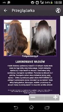 Sprawdziłam na swoich włosach, efekt nie jest tak świetny jak na zdjęciu po prawej, ale jest bardzo dobry. Możliwe, że po paru powtórzeniach zabiegu  będą tak wyglądać. W każdym...