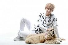 kim and dog