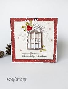 Kartka Świąteczna z oknem