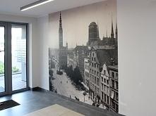 Fototapeta w holu budynku - przedwojenny Gdańsk