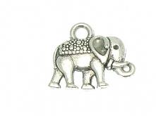 Zawieszka słoń z trąbą do góry - na szczęście :)