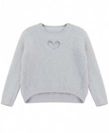 słodki sweter z sercem