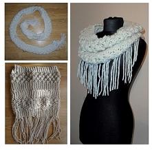 Jak zrobić komin z wąskiego szalika DIY // How to make an infinity scarf of narrow one DIY
