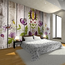 Sypialnia na ludowo.