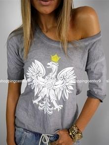Szara bluzka z orłem <3  Dostępna na www sc9 pl