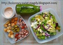 Sałatka Drwala Więcej przepisów na lunchbox do pracy/ szkoły na blogu: kolorowy-swiat-magdy.blogspot.com