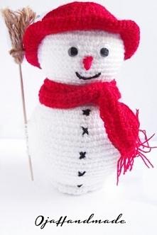 Biało-czerwony bałwanek :)