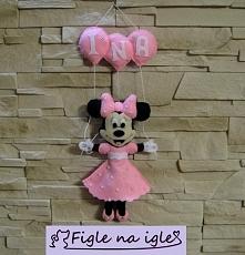 Minnie z imieniem dziecka :)