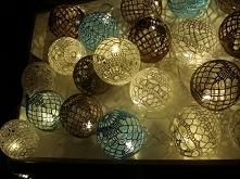 cotton ball lights na szydełku