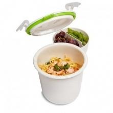 Pojemnik na obiad Lunch Pot Single, biało-zielony - Black+Blum