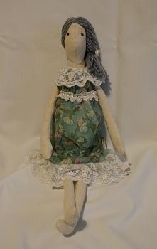 Lalka - zielona sukienka