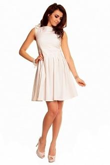 Sukienka mini w kremowym kolorze